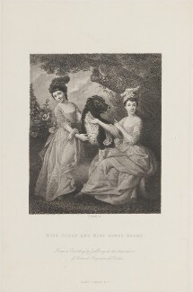 Mary Berry; Agnes Berry, by Henry Adlard, published by  Longman & Co, after  Johan Joseph Zoffany - NPG D14939