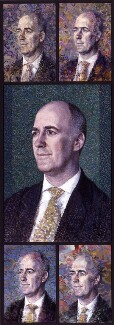 Charles Robert Saumarez Smith, by Tom Phillips, 2003 - NPG  - © National Portrait Gallery, London