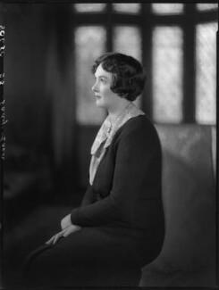 Edith Mary Patricia (née Prendergast), Lady Eden, by Bassano Ltd - NPG x80947