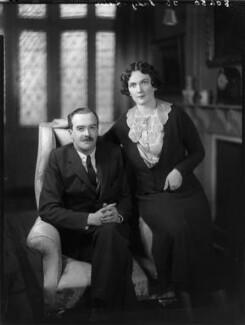 Sir Timothy Calvert Eden, 8th Bt; Edith Mary Patricia (née Prendergast), Lady Eden, by Bassano Ltd - NPG x80948