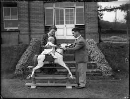 Marjery Gladys (née Winckle), Lady Richards; Sir Gordon Richards with their child, probably Marjorie Read (née Richards), by Bassano Ltd - NPG x74719