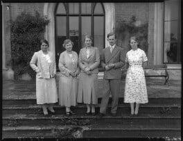 The Courtenay family, by Bassano Ltd - NPG x37466