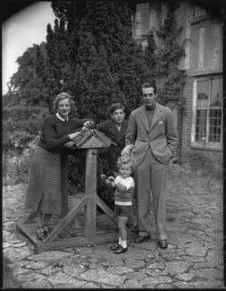 The Massey family (Adrianne Allen (Adrianne Massey); Geoffrey Massey; Daniel Massey; Raymond Massey), by Bassano Ltd - NPG x31155