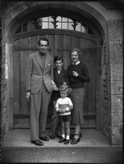 The Massey family (Raymond Massey; Geoffrey Massey; Daniel Massey; Adrianne Allen (Adrianne Massey)), by Bassano Ltd - NPG x31156
