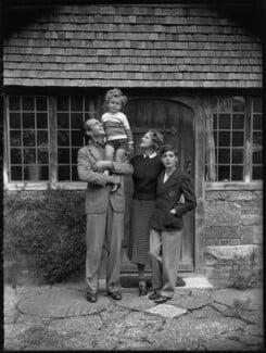 The Massey family (Raymond Massey; Daniel Massey; Adrianne Allen (Adrianne Massey); Geoffrey Massey), by Bassano Ltd - NPG x31157
