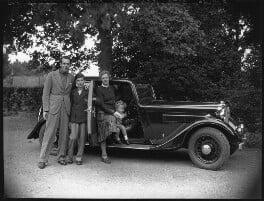 The Massey family (Raymond Massey; Geoffrey Massey; Adrianne Allen (Adrianne Massey); Daniel Massey), by Bassano Ltd - NPG x31158