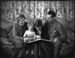 The Massey family (Adrianne Allen (Adrianne Massey); Daniel Massey; Geoffrey Massey; Raymond Massey), by Bassano Ltd - NPG x31159
