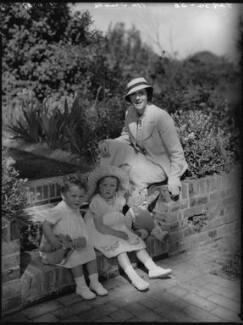 Sir George William Langham Christie; Rosamund Agnes Hay Christie; Audrey Mildmay, by Bassano Ltd - NPG x37209