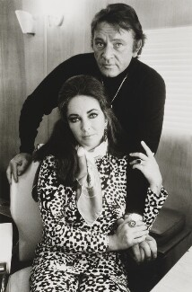 Richard Burton; Dame Elizabeth Taylor, by Terry O'Neill - NPG x126133