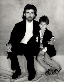 George Harrison; Dhani Harrison, by Terry O'Neill - NPG x126134