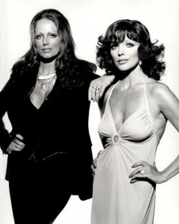 Jackie Collins; Joan Collins, by Terry O'Neill, 1970s - NPG x126136 - © Iconic IMages/Terry O'Neill