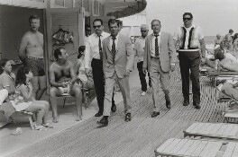 Frank Sinatra with his stand-in and four escorts, by Terry O'Neill - NPG x126145
