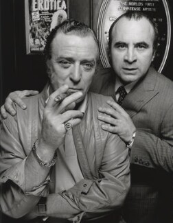 Michael Caine; Bob Hoskins, by Terry O'Neill, 1985 - NPG x126162 - © Iconic IMages/Terry O'Neill