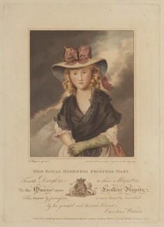 Princess Mary, Duchess of Gloucester, by and published by Caroline Watson, after  John Hoppner - NPG D14947