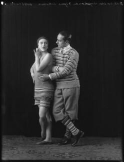 Lydia Sokolova as Perlouse; Leon Woizikovsky as the Golf Player in 'Le Train bleu', by Bassano Ltd - NPG x26646