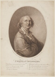 Alessandro, Count of Cagliostro (Giuseppe Balsamo), by Robert Samuel Marcuard, published by  Torre & Co, after  Francesco Bartolozzi - NPG D14953