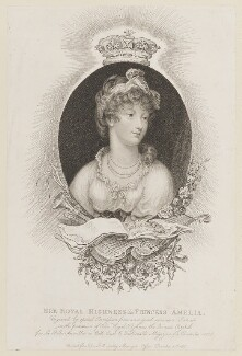 Princess Amelia, by Marie Anne Bourlier, published by  John Bell, published 30 December 1806 - NPG D14955 - © National Portrait Gallery, London