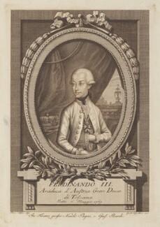 Ferdinand III, Grand Duke of Tuscany, Archduke of Austria, by Gaetano Vascellini, published by  Niccolò Pagni and Guiseppe Bardi - NPG D14956