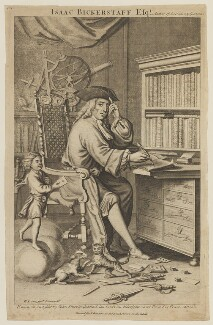 Sir Richard Steele, by John Sturt, published by  John Bowles, after  Bernard Lens (II) - NPG D14964