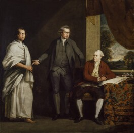 Omai (Mai), Sir Joseph Banks and Daniel Charles Solander, by William Parry - NPG 6652