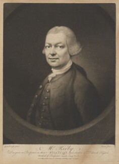 (John) Joshua Kirby, by John Dixon, sold by  Ryland and Bryer, after  Thomas Gainsborough, (circa 1764) - NPG D14967 - © National Portrait Gallery, London