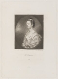 Mrs Hayes, by Samuel William Reynolds, published by  Henry Graves, after  Sir Joshua Reynolds - NPG D14970