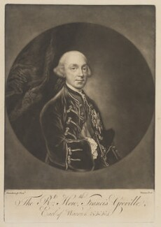 Francis Greville, 1st Earl of Warwick and Brooke, by James Watson, after  Thomas Gainsborough - NPG D14974