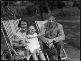 Agnes Mary Cronin (née Gibson); Andrew Cronin; Archibald Joseph Cronin, by Bassano Ltd - NPG x30952
