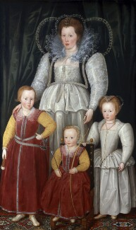 Anne, Lady Pope with her children, by Marcus Gheeraerts the Younger - NPG L231