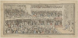 'Covent Garden Theatre', by Thomas Rowlandson, published by  Henry Brookes - NPG D14984