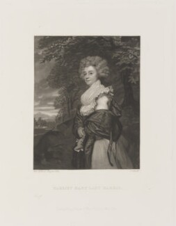 Harriet Maria Harris (née Amyand), Countess of Malmesbury, by James Scott, published by  Henry Graves & Co, after  Sir Joshua Reynolds - NPG D14986