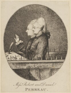 Robert Perreau; Daniel Perreau, by Unknown artist - NPG D14989