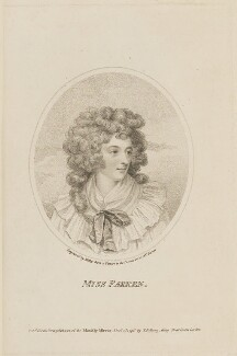 Elizabeth (née Farren), Countess of Derby, by William Ridley, published by  Thomas Bellamy - NPG D14993