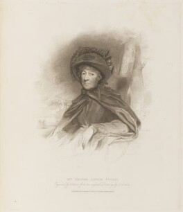 Hester Lynch Piozzi (née Salusbury, later Mrs Thrale), by Henry Meyer, published by  T. Cadell & W. Davies, after  John Jackson - NPG D14994