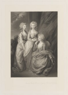 Princess Augusta Sophia; Princess Elizabeth, Landgravine of Hesse-Homburg; Charlotte Augusta Matilda, Princess Royal, by Arthur N. Sanders, published by  Henry Graves, after  Thomas Gainsborough - NPG D15000