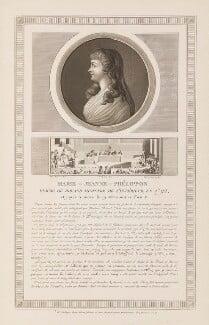 Jeanne Manon Philipon Roland de la Platière, by Charles François Gabriel Levachez, published and aquatinted by  Jean Duplessis-Bertaux - NPG D15006