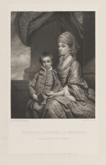 Elizabeth Herbert (née Spencer), Countess of Pembroke; George Augustus Herbert, 11th Earl of Pembroke, by Frederick Bromley, published by  Henry Graves, after  Sir Joshua Reynolds - NPG D15007
