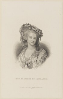 Marie Thérèse de Savoie-Carignan, Princess de Lamballe, by William Greatbach, published by  Richard Bentley - NPG D15017