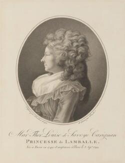 Marie Thérèse de Savoie-Carignan, Princess de Lamballe, by Louis Charles Ruotte, after  Henri-Pierre Danloux - NPG D15018