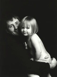 Trevor Leighton with his daughter Rosie, by Trevor Leighton, 1990s - NPG  - © Trevor Leighton / National Portrait Gallery, London
