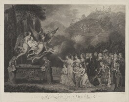 Immortality of Garrick, by James Caldwall, by  S. Smith, after  George Carter, published 1783 - NPG D18114 - © National Portrait Gallery, London