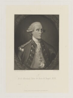 John Campbell, 5th Duke of Argyll, by Robert Bowyer Parkes, published by  Henry Graves, after  Thomas Gainsborough - NPG D15047