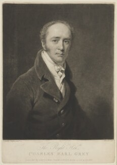 Charles Grey, 2nd Earl Grey, by Charles Turner, published by  Anthony Molteno, after  Thomas Phillips - NPG D15056