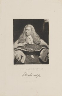 Edward Law, 1st Baron Ellenborough, by George Parker, published by  Fisher Son & Co, after  Sir Thomas Lawrence - NPG D15067