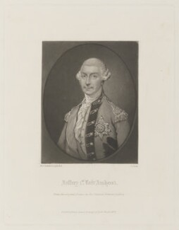 Jeffrey Amherst, 1st Baron Amherst, by James Scott, published by  Henry Graves, after  Thomas Gainsborough, published 1874 (circa 1785) - NPG D15068 - © National Portrait Gallery, London