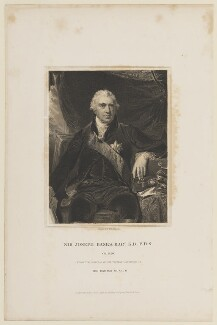 Sir Joseph Banks, Bt, by John Henry Robinson, published by  Harding & Lepard, after  Sir Thomas Lawrence - NPG D15070