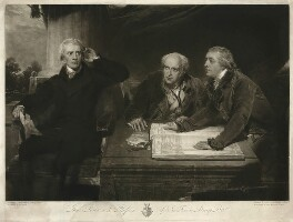 Sir Francis Baring, 1st Bt, John Baring; Charles Wall, by James Ward, after  Sir Thomas Lawrence - NPG D18119
