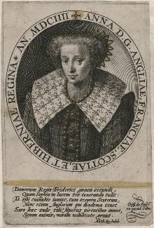 Anne of Denmark, by Crispijn de Passe the Elder, published 1604 - NPG D18125 - © National Portrait Gallery, London