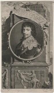 Frederick V, King of Bohemia and Elector Palatine, by Pieter Stevens van Gunst, after  Adriaen van der Werff, after  Gerrit van Honthorst - NPG D18135