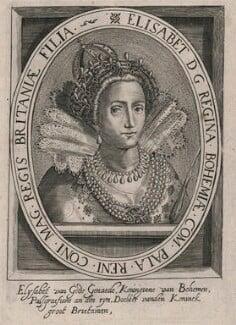 Princess Elizabeth, Queen of Bohemia and Electress Palatine, after Crispijn de Passe the Elder, 17th century - NPG D18128 - © National Portrait Gallery, London